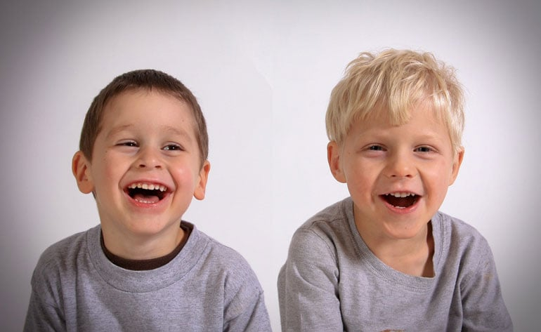 two smiling boys